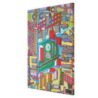 """Abstract Art on Canvas """"Blocks"""""""