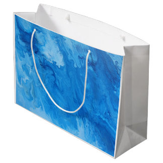 "Abstract Art on Large Gift Bag ""Billow"""