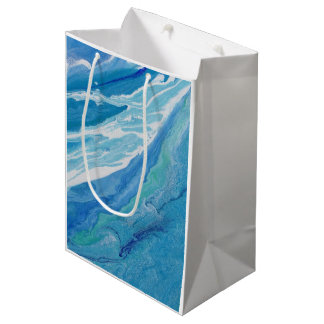 "Abstract Art on Medium Gift Bag ""Wave"""