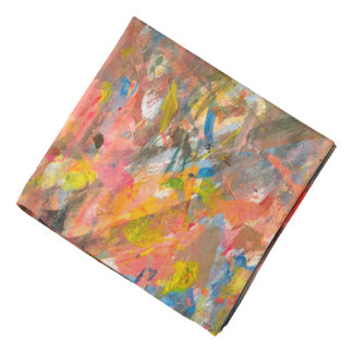 Abstract Art Paint Dab Colorful Bandana