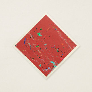 Abstract Art Paint Splashes and Spots Disposable Napkins
