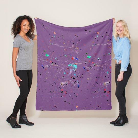 Abstract Art Paint Splashes and Spots Fleece Blanket