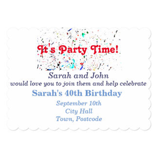 Abstract Art Paint Splashes and Spots Party Card