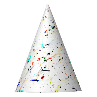 Abstract Art Paint Splashes and Spots Party Hat