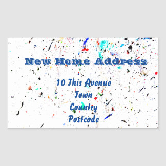 Abstract Art Paint Splashes and Spots Sticker