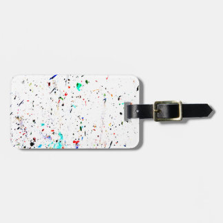 Abstract Art Paint Splashes and Spots Template Luggage Tag