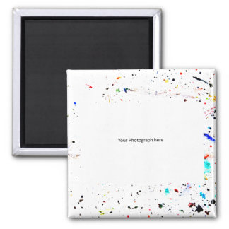 Abstract Art Paint Splashes and Spots Template Magnet