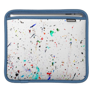 Abstract Art Paint Splashes and Spotty iPad Sleeve