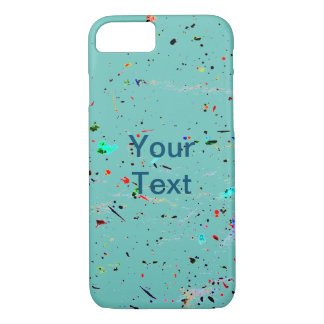 Abstract Art Paint Splashes and Spotty iPhone 8/7 Case