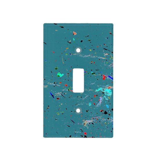 Abstract Art Paint Splashes and Spotty Light Switch Cover