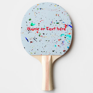 Abstract Art Paint Splashes and Spotty Ping Pong Paddle