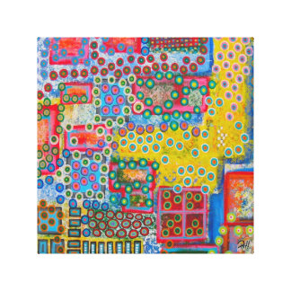 "Abstract Art Painting on Canvas ""Polka Dots"""