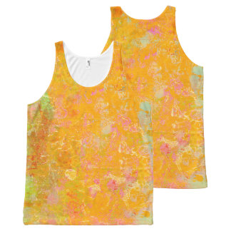 Abstract Art Painting Orange Yellow Pink Red Green All-Over-Print Tank Top