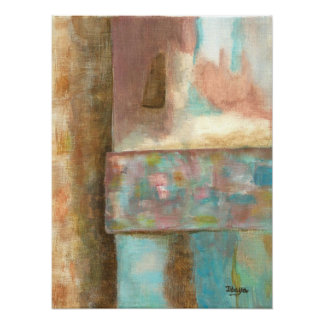 Abstract Art Painting Pastel Fantasy Castle Window Poster
