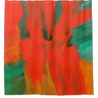 Abstract Art Painting Red Orange Green Gold