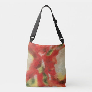 Abstract Art Painting Texture Red Orange Yellow Crossbody Bag
