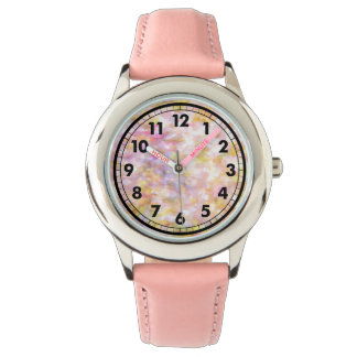 Abstract Art Pale Yellow Pastel Impressionism Watch