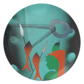 Abstract Art Party Plate