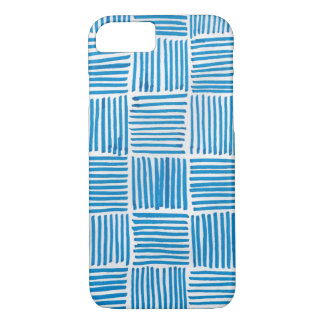 Abstract Art Pattern Boho Blue iPhone 8/7 Case