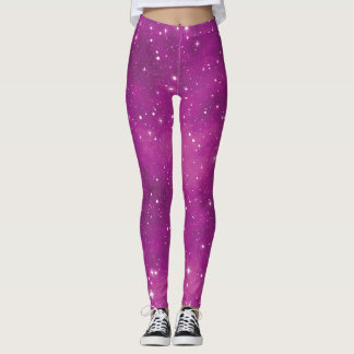 Abstract Art Pink and Purple Universe Leggings