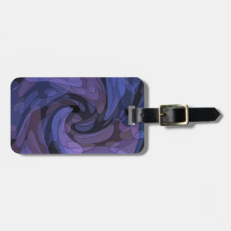 Abstract Art Purple and Black Luggage Tag