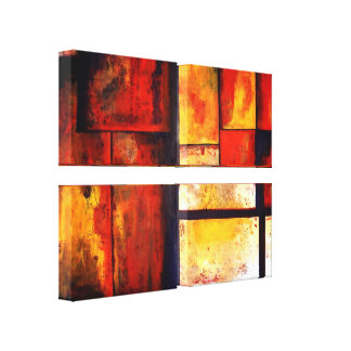 Abstract Art Quad Wrapped Canvas Set