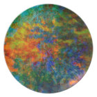 Abstract Art Rainbow Colours Plate