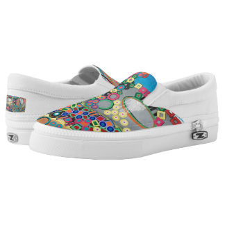 Abstract Art RH Painting on Canvas Shoes