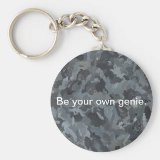 Abstract Art Rocks Painting Inspirational Keychain