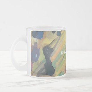 Abstract Art Rocks Painting Inspirational Minimal Frosted Glass Coffee Mug