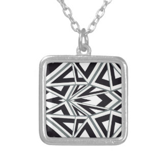 Abstract Art Silver Plated Necklace