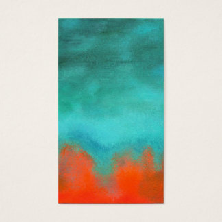 Abstract Art Sky Fire Lava Red Orange Turquoise Business Card