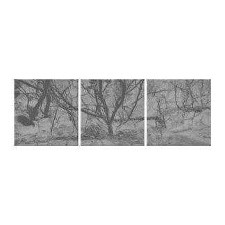 Abstract art Snow dust tree Canvas Print