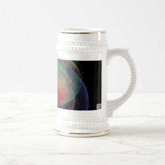 Abstract Art Space Shell 18 Oz Beer Stein