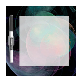 Abstract Art Space Shell Dry Erase Boards