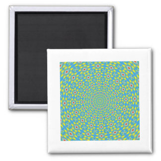ABSTRACT ART) SQUARE MAGNET