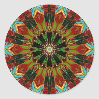 ABSTRACT ART ROUND STICKERS