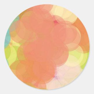 Abstract Art Round Sticker