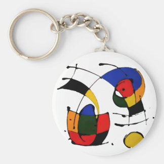 abstract art surrealism keychain
