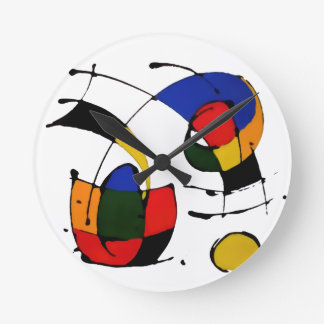 abstract art surrealism round clock