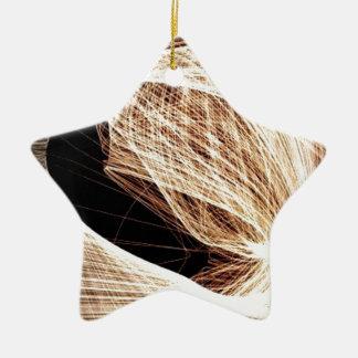 abstract art swirls - abyss ceramic ornament