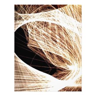 abstract art swirls - abyss letterhead