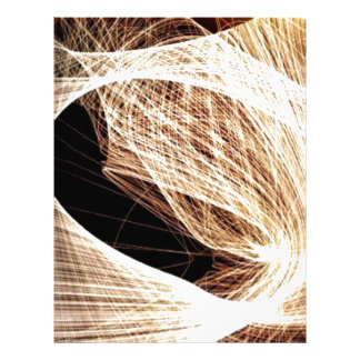 abstract art swirls - abyss letterhead design