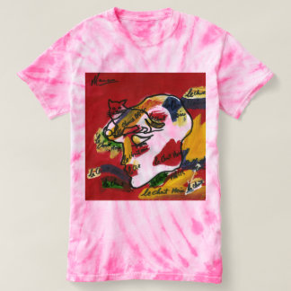 Abstract art tie dye t-shirt
