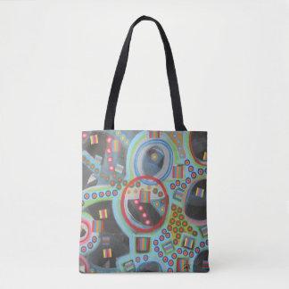 """Abstract Art Tote Bag """"Blackhole"""""""