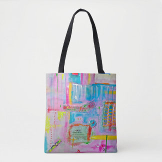 "Abstract Art Tote Bag ""Boozy Boules"""