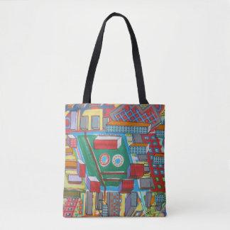 "Abstract Art Tote Bag ""Building Blocks"""