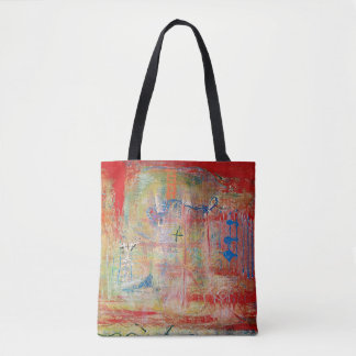"Abstract Art Tote Bag ""Cross"""