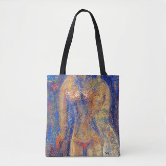 "Abstract Art Tote Bag ""Golden"""