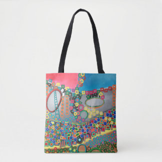 "Abstract Art Tote Bag ""Shower"""